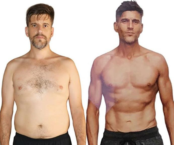 What a difference! Osher before and after his 10-week-transformation. *Image source: Instagram/@osher_gunsberg*