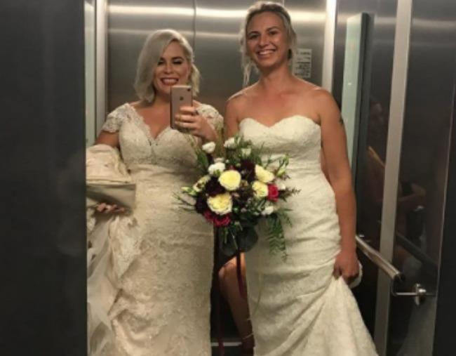 """Sarah Turnbull and Rebecca Hickson were one of the [first Australian same-sex couples](https://www.nowtolove.com.au/lifestyle/weddings/first-official-day-same-sex-marriage-australia-44087
