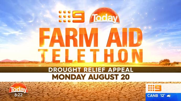 TODAY announces August 20 Farm Aid Telethon.