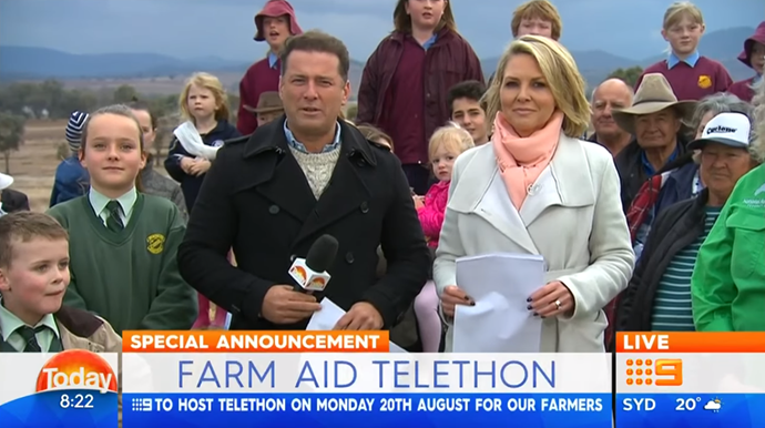 Karl and Georgie announce the telethon live on-air this morning.