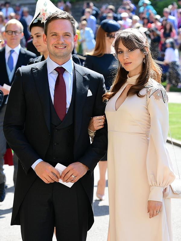 Patrick and Troian at the royal wedding in May.
