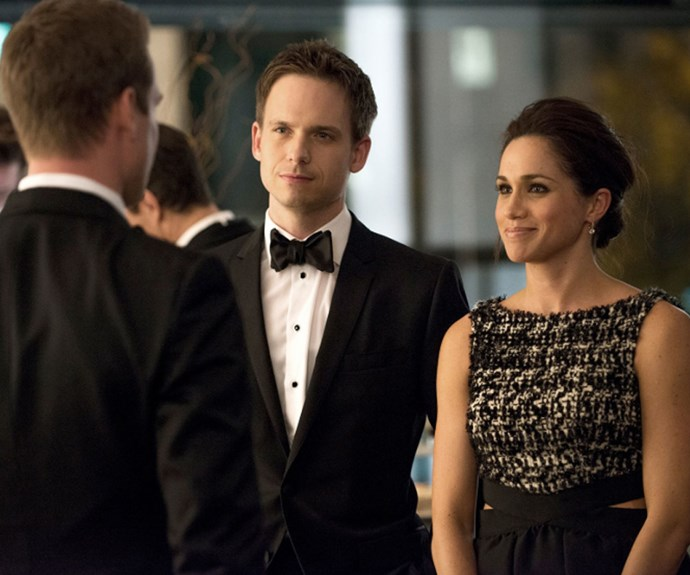 Patrick played former actress Meghan Markle's husband on the hit series *Suits*.