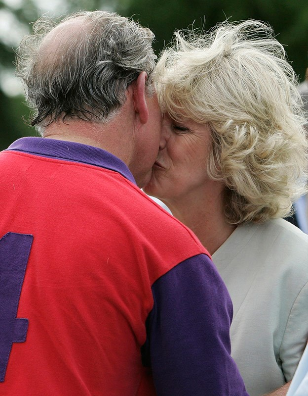 Charles with his second wife Camilla.