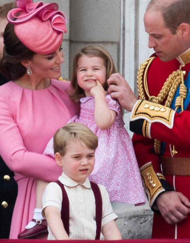 We adore seeing William brush away his daughter's hair.