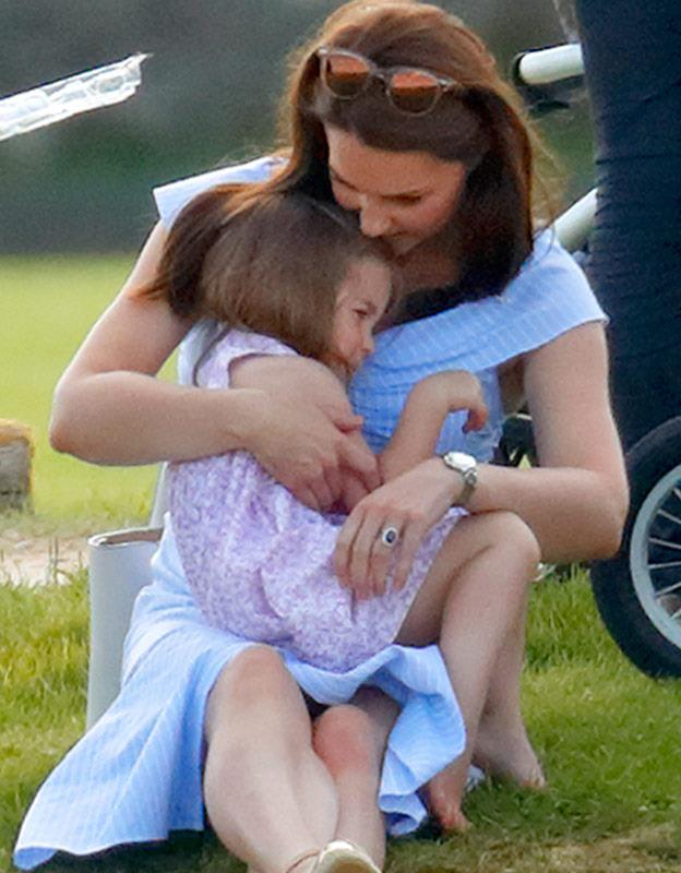 We got to see Kate in full mum mode with her Charlotte...