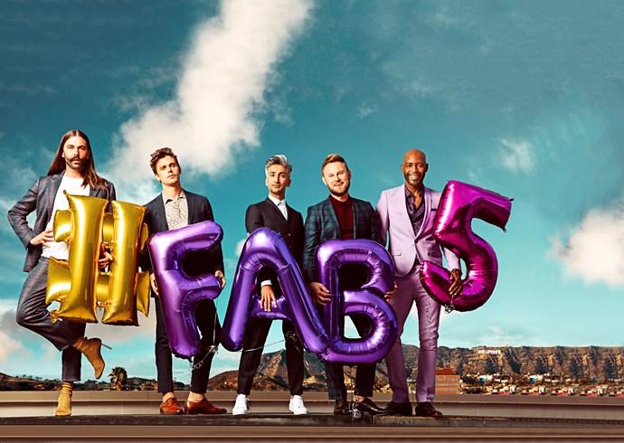 Jonathan, Antoni, Tan, Bobby and Karamo are the new Fab Five.
