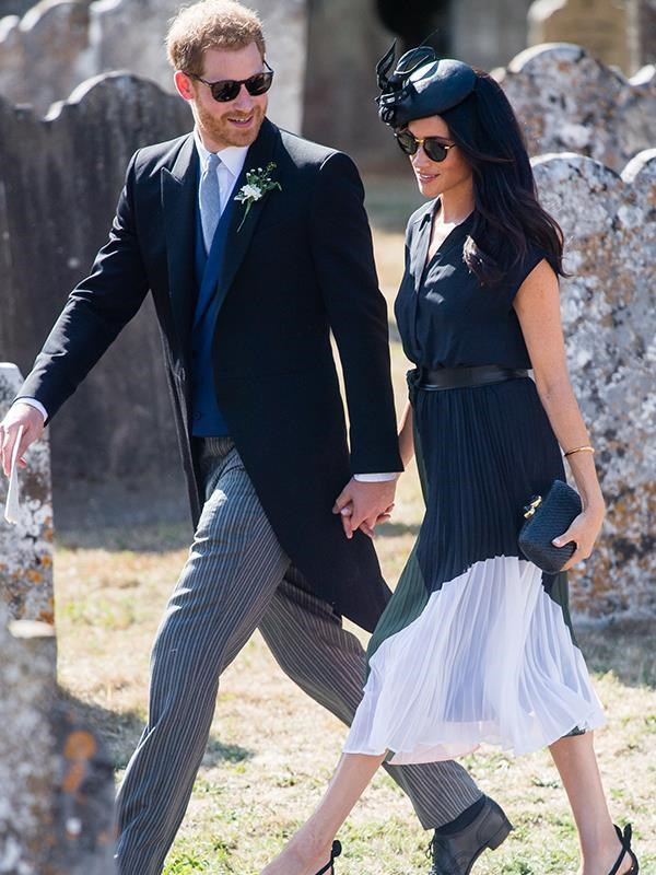 Meghan spent her birthday celebrating the marriage of Harry's prep school pal Charlie can Straubenzee to Daisy Jenks.