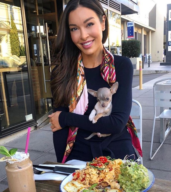 Laurina says she is relieved the thieves didn't take her three-month-old chihuahua Teddy, who was waiting in the front seat.