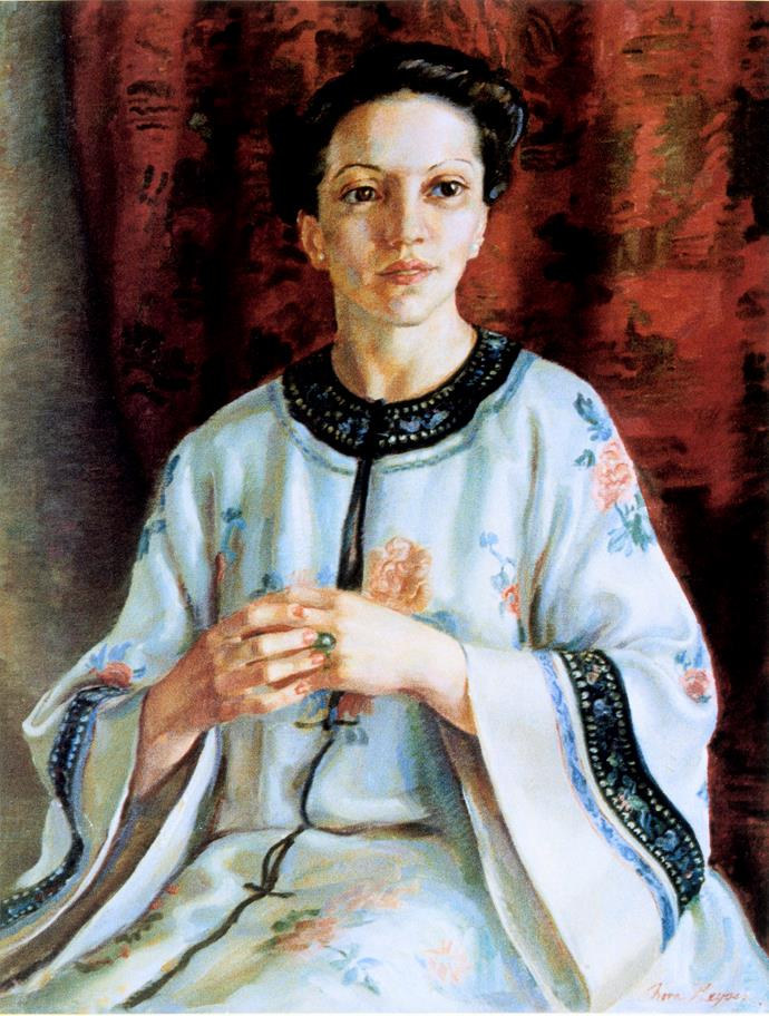 Archibald Prize 1938 winner Nora Heysen 'Mme Elink Schuurman' 1938 Private collection © Lou Klepac.  Photo: Art Gallery of NSW