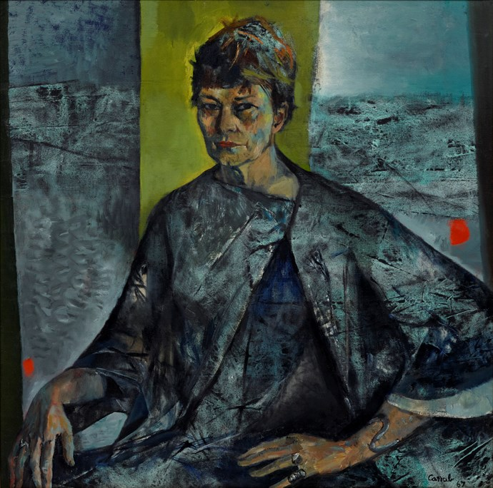 Archibald Prize 1967 winner Judy Cassab 'Margo Lewers' 1967 Photo: Art Gallery of NSW