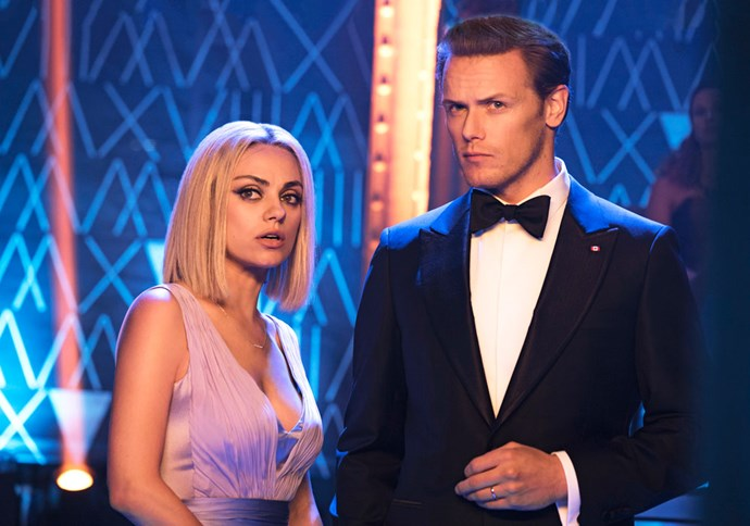 Mila Kunis and Sam Heughan star in *The Spy Who Dumped Me.*