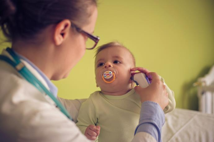 Middle ear infections are the most common type of ear infections in babies and children