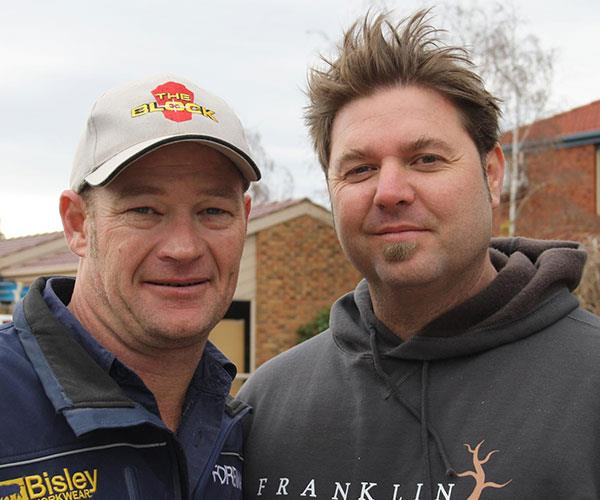 Dave Franklin (on the right) with Foreman Kieth. Two of the Block's favourites.