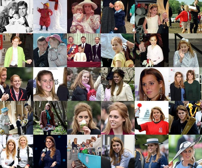Talk about the Royal treatment! The Royal family's Twitter account tweeted this sweet collage of Princess Beatrice for her birthday.