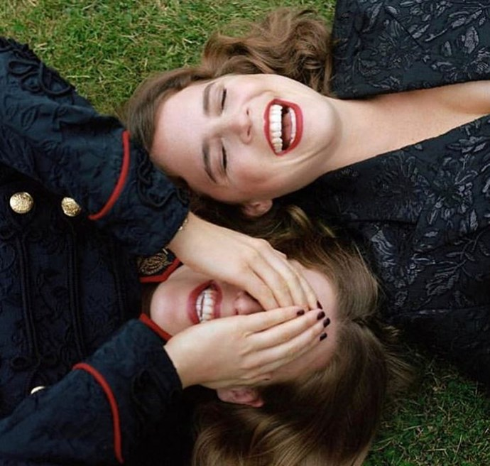 The third image shared by Eugenie on Instagram was a shot of the two sisters from their recent *Vogue* shoot.
