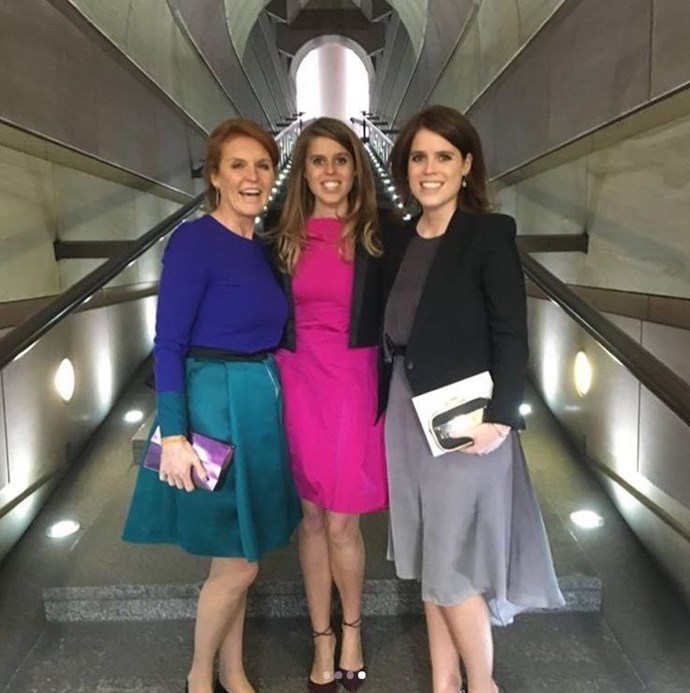 The final photo shared by Princess Eugenie showed both Princess Beatrice and their mother, their mother Sarah Ferguson, Duchess of York.