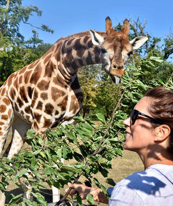 Princess Mary of Denmark makes a new friend.