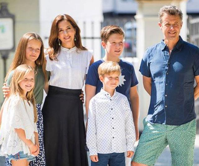 Earlier in the European summer, the family gathered well-wishers outside of their summer estate Graasten Castle in Graasten, Denmark. **(All images above via the Danish Royals' Facebook page)**
