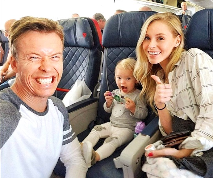 Todd with girlfriend Jordan and daughter Charlie Rose.