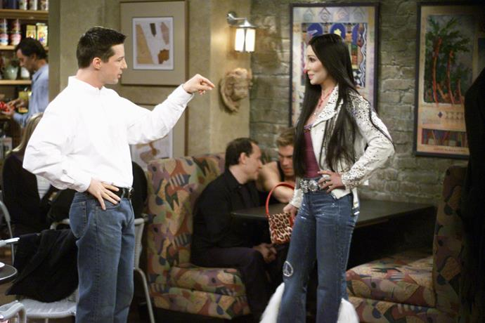 **CHER: SEASON 3, EPISODE 7**  Cher made two cameos in *Will & Grace,* playing herself both times. Her most memorable cameo, however, came in season three, when Jack mistook her for a drag queen *impersonating* Cher. How did she respond? She slapped him!
