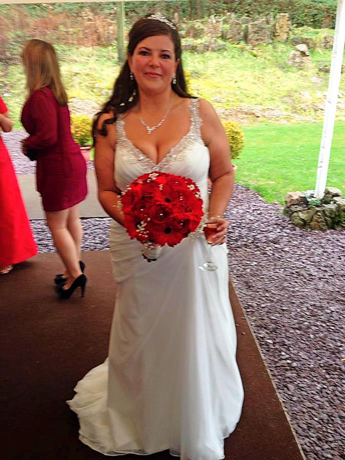 Me in my wedding dress.