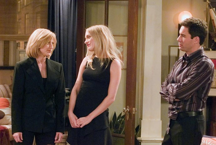 "**EDIE FALCO AND CHLOE SEVIGNY: SEASON 6, EPISODE 17**  Edie and Chloë star as Deirdre and Monet, two ""power lesbians"" who compete against Will and Grace for real-estate, as they are both flipping apartments."