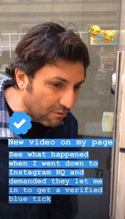 """I can't believe I still haven't got my blue tick from Instagram,"" Nasser pokes fun at his celebrity status chasing his Instagram verification and his ""blue tick."""