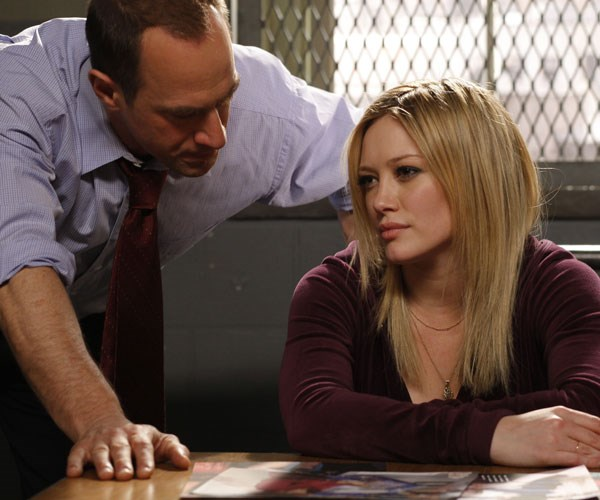Hilary Duff as Ashlee Walker during her guest appearance on *Law and Order*.