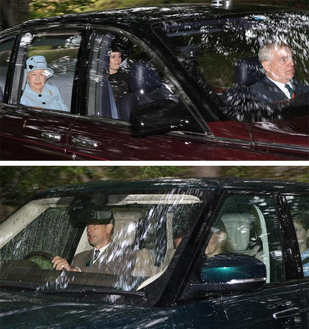 Prince Andrew and his younger brother Prince Edward were also in attendance.