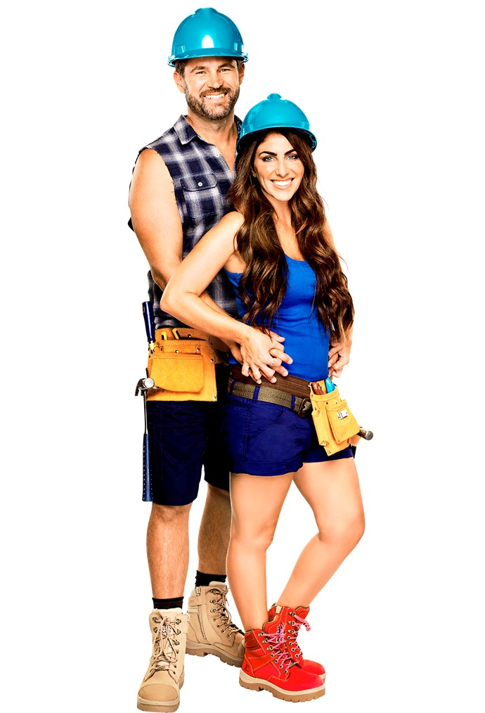 One of *The Block's* most controversial couples this year, Sara and Hayden.