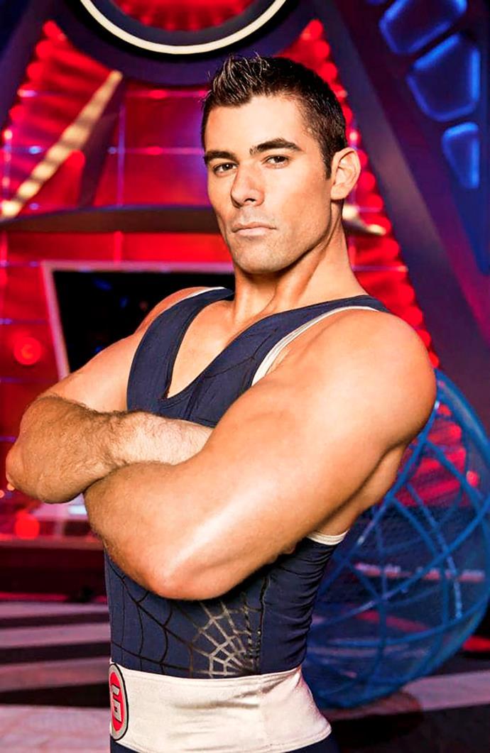 Zach as Hunter on *Gladiators.*