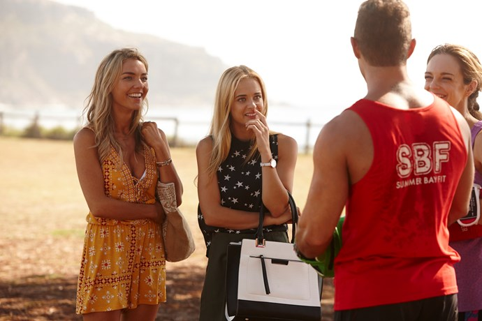 Raechelle with her on-screen pal Sam Frost (Jasmine).