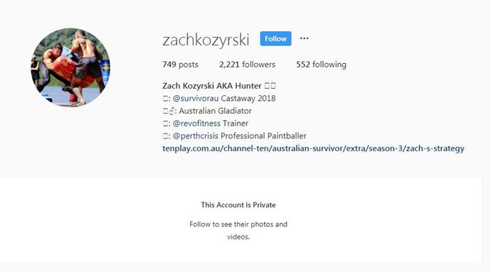 Zach's Instagram is now on private after receiving a lot of backlash.