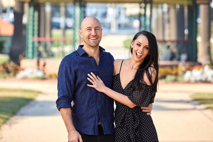 The Perth couple got engaged just before starting on *The Block* earlier this year.