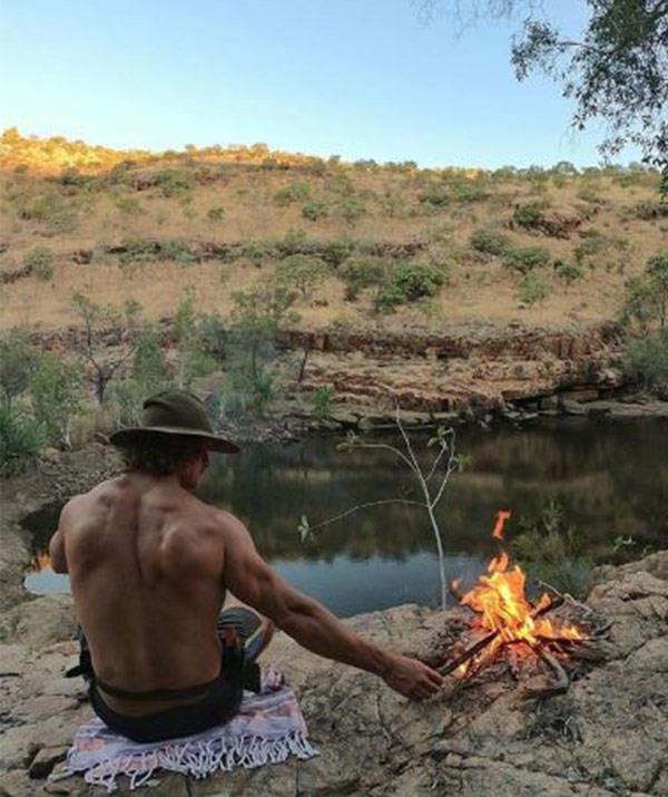 No airs or graces: Our Bachelor is happiest in the outback, camping underneath the stars.