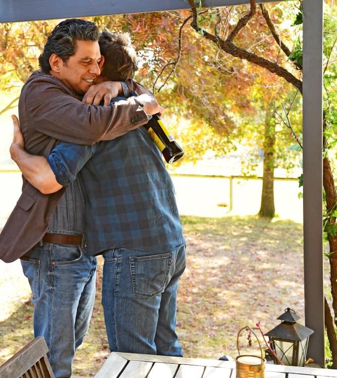 Carlito greets his son-in-law Matt.