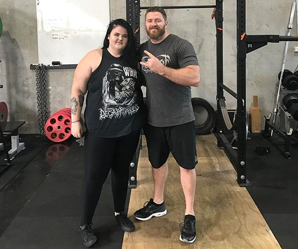 With my trainer, Luke, at the start of my fitness journey.  **Pictures exclusive to Take 5.**