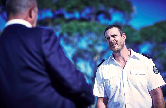 Matthew Fletcher (Aaron Jeffery) suffers the consequences for siding against The Freak.