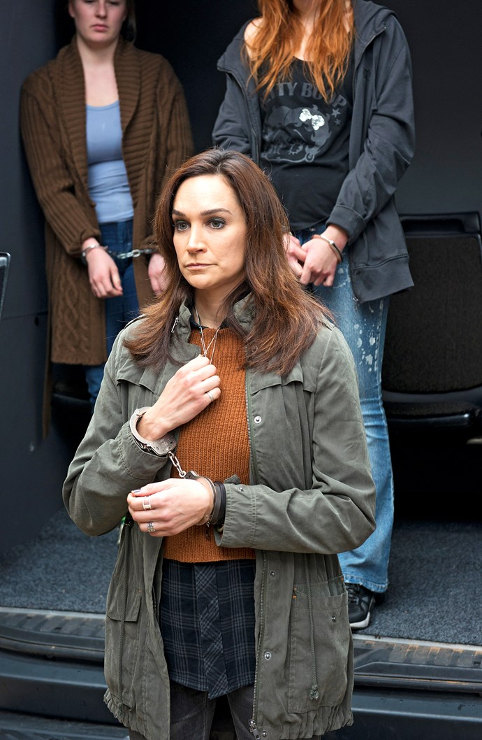Franky (Nicole da Silva) returns to Wentworth after being accused of the murder of celebrity chef Mike Pennisi.