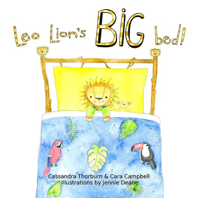 Cass and her friend Cara are making their children's book debut with *Leo Lion's Big Bed*!
