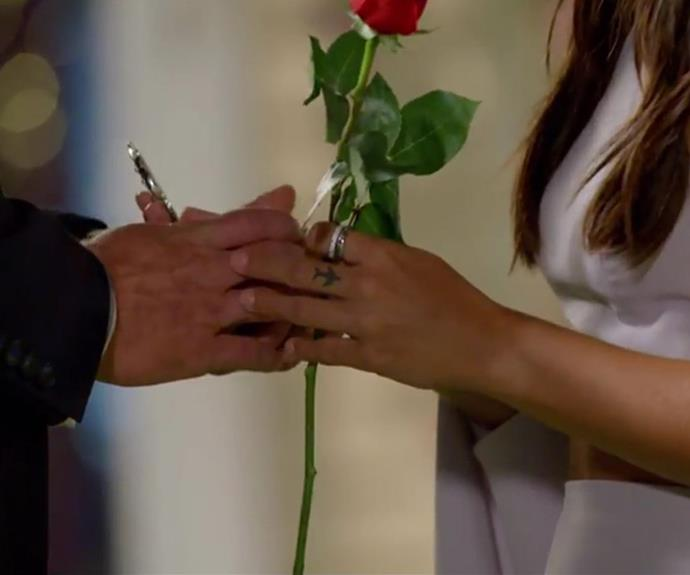 Brooke snagged The Key along with a rose.
