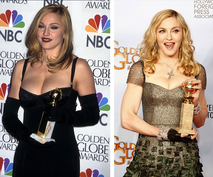 And she's not just about Grammys- Madge took home the Golden Globe when she played the titular character in *Evita* in 1997 and again when she won Best Original Song in 2012.