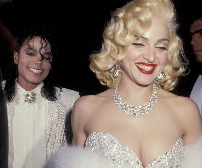 The Queen of Pop rocked the Oscars red carpet with Michael Jackson in 1991.