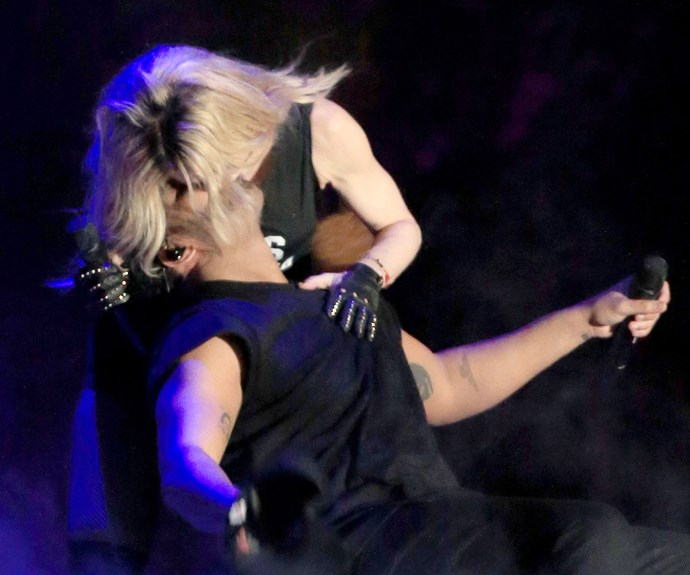 And speaking of controversial kisses, Madonna laid a big one while onstage on rapper Drake in 2015.