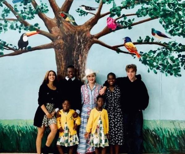 Mum of six: Madonna's children are 21-year-old Lourdes Leon, who she shares with ex Carlos Leon, 18 year-old Rocco Ritchie, from her marriage with ex Guy Ritchie, and adopted children Mercy James and David Banda, both 12, and five-year-old twins Estere and Stella.