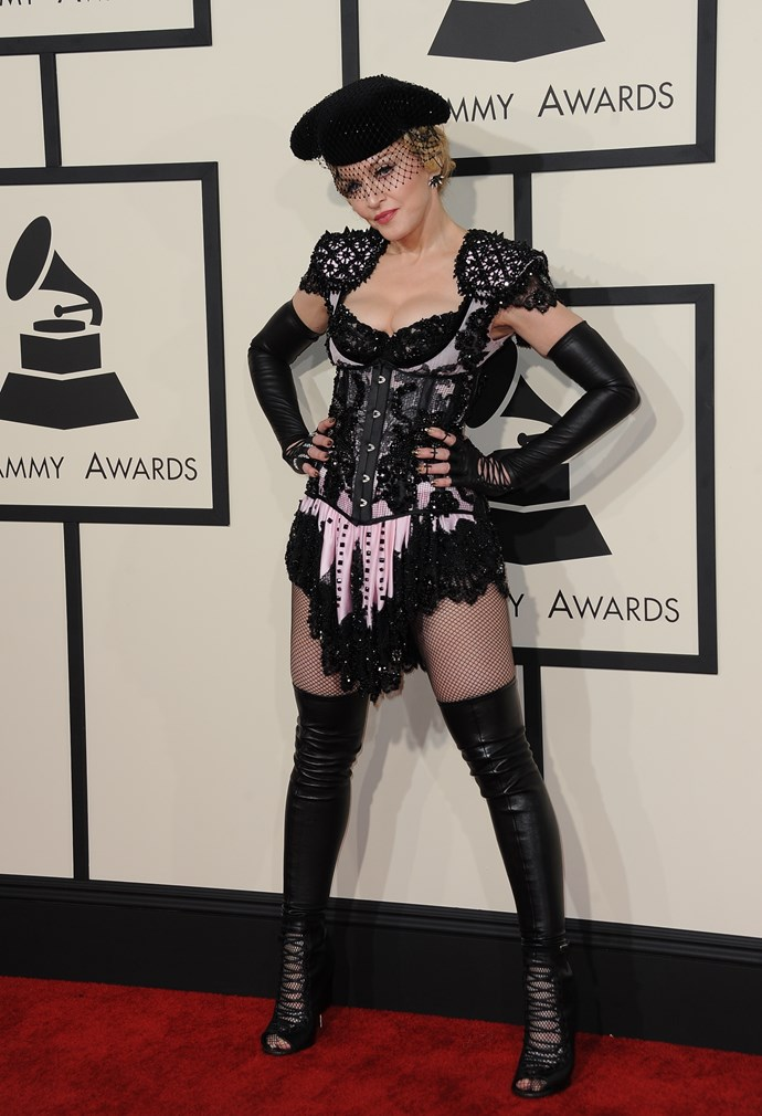 Madonna's never been one to act shy on the red carpet.