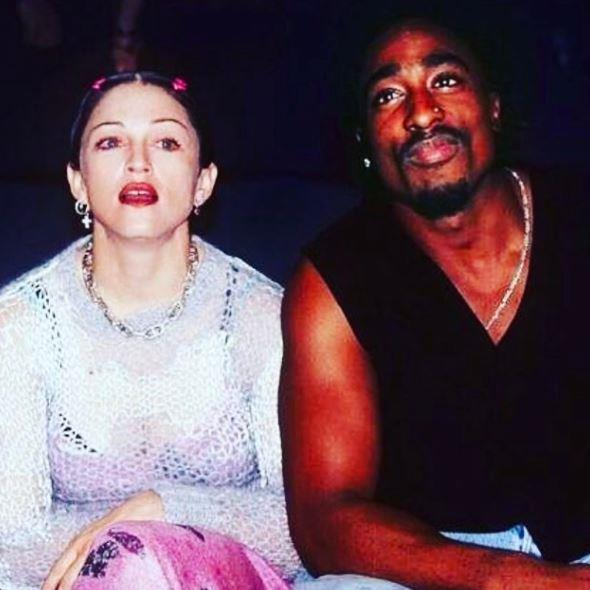 Power couple: Madge and rapper Tupac had a fling, though she only confirmed it in 2015.