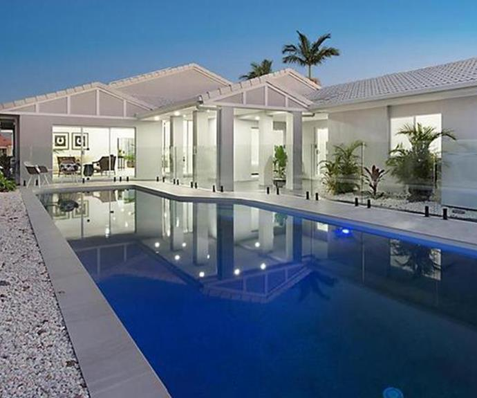 Laps anyone? The exterior of the new Cummins' family home features a stunning sapphire pool. *Image: realestate.com.au*