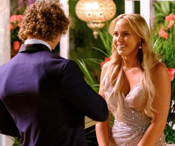 The blonde from Sydney is obviously smitten by the Badgie.