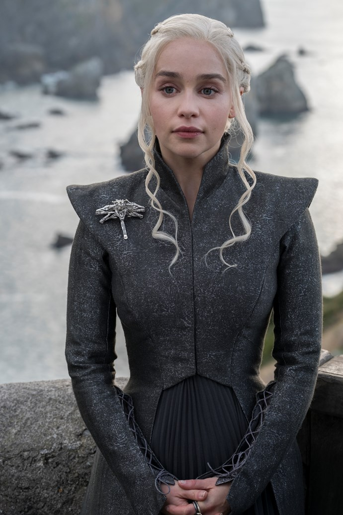Emilia Clarke as Daenerys Targaryen in *Game of Thrones.*